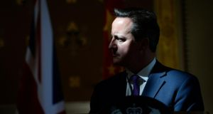 "British prime minister David Cameron: ""There is an important principle at stake here which is that the accountable, elected members of the European Council, the elected heads of state, the elected heads of government, should be the ones who propose who runs the European Commission."" Photograph: Facundo Arrizabalaga/PA Wire"