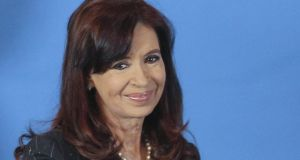"Argentina's president, Cristina Fernandez de Kirchner, used the term ""extortion"" to describe a ruling by the US Supreme Court. Photograph: David Fernandez/EPA"