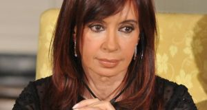 Argentinian president Cristina Fernández de Kirchner raised the prospect of a new sovereign default in a national address yesterday. Photograph: Ron Sachs-Pool/Getty Images