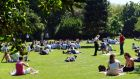 Herbert Park,  Dublin, in the sun yesterday. Photograph: Eric Luke/The Irish Times