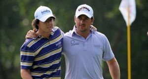 Rory McIlroy and Graeme McDowell of Ireland at the Omega Mission Hills World Cup. Inpho/Getty Images/Stuart Franklin
