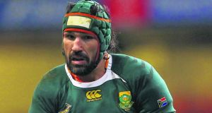 South Africa's Victor Matfield: will win a record 112th cap against Wales in Nelspruit on Saturday. Photo: Stu Forster/Getty
