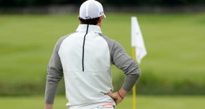 Rory McIlroy has struggled to get up and running at Fota on the first day. Photograph: Ross Kinnaird/Getty Images