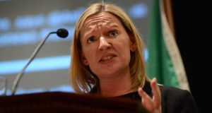 A file image of Lucinda Creighton speaking at a  Reform Alliance conference at the RDS in Dublin earlier this year. Photograph: Cyril Byrne/The Irish Times