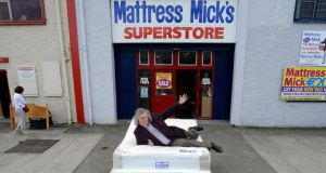 "Mattress Mick, who was hailed by a desperate Tubridy as ""the stuff of legend"". Photograph: Dave Meehan"