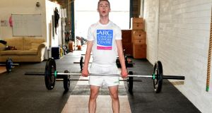 Our man in Crossfit Ciarán D'Arcy tries his hand at the powerweight lifts. Photograph: David Sleator