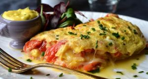 Lobster and tarragon omelette .Photograph: Alan Betson