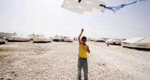 Syrian boy  in the Zaatari camp in Jordan. Photograph: Getty Images