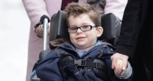 Luke Miggin (8) was yesterday awarded an additional interim payout of €580,000. Photograph: Collins Courts