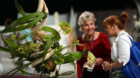 Gail Emmons from the US participating  in the World Flower Show. Photograph: Cyril Byrne/The Irish Times