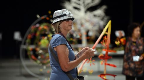 Diana Kennedy from Canada at the World Flower Show. Photograph: Cyril Byrne/The Irish Times