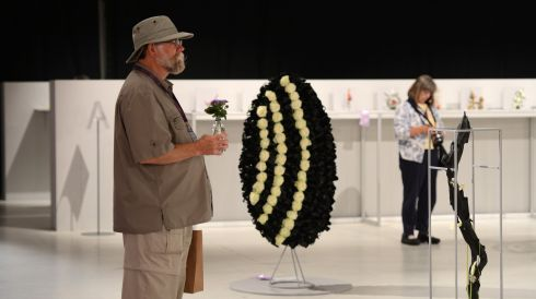 George Masson from San Francisco at  the 11th World Flower Show at the RDS. Photograph: Cyril Byrne/The Irish Times