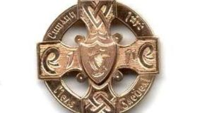 The 1955 All-Ireland Hurling Final medal won by Nickey Rackard of the Wexford team. The pre-auction estimate is €5,000-€7,000.