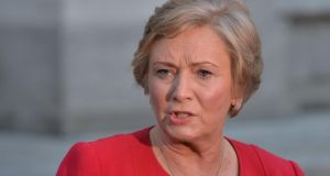 Minister for Justice Frances Fitzgerald who said today that  the establishment of the new authority was 'reforming step' that she hoped would happen before the end of the year. Photograph: The Irish Times