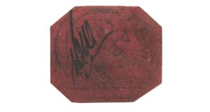 The 1856 British Guiana one-cent black on magenta sold for $9.5 million – a new world auction record for any stamp – although below the estimate ($10 million-$20 million).