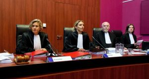 Dutch court: Women overtook men on the Dutch bench in 2008, and since then the imbalance has become more and more pronounced.     Photograph: Robin van Lonkhuijsen/AFP/Getty Images
