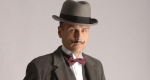 Jason Durr as Poirot in 'Black Coffee'