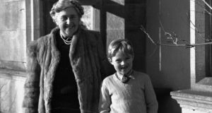 A young Mathew Pritchard with his grandmother Agatha Christie