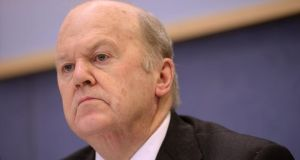Minister for Finance Michael Noonan said ministers expressed  about the continuing high levels of unemployment and the need for growth. Photograph; Dara Mac Donaill / The Irish Times