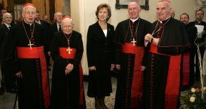 Praying for change:  McAleese with Pope Benedict XVI at the Vatican in 2007. Photograph: Christophe Simon/AFP/Getty Images