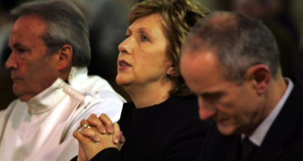 Praying For Change Mary McAleese At Mass With Her Husband Martin In 2008