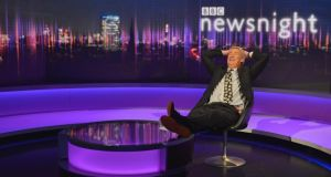 'On the week in which Jeremy Paxman retires from his role presenting the BBC flagship Newsnight programme it is worth reflecting on whether that aggressive style of political interviewing actually serves the viewer and the process of democratic debate.'  Photograph: Jeff Overs/BBC/PA