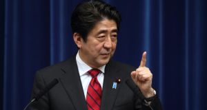 Japan's government, led by prime minister Shinzo Abe,  is riding high in the polls thanks to the perceived success of his expansionary economic policies. Photograph: Tomohiro Ohsumi/Bloomberg