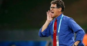 Russia's coach Fabio Capello during his side's forgettable 1-1 draw against South Korea.