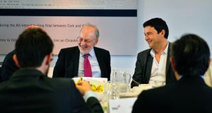 Central Bank's Patrick Honohan joins Mr Piketty at lunch.