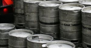 The Irish Brewing Association has said it costs €100 to replace each stolen keg. Photograph by Frank Miller
