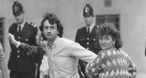 Gerry Conlon, one of the Guildford Four, after his release from the Old Bailey, London in  October 1989.File Photograph: Peter Thursfield/The Irish Times.
