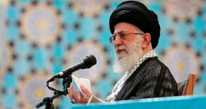 """We are strongly opposed to US and other intervention in Iraq,"" IRNA news agency quoted Iran's supreme leader Ayatollah Ali Khamenei as saying. Photograph: Reuters"