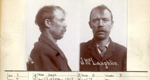 "John McLaughlin (41): a labourer, arrested in Los Angeles on December 19th, 1910, for petty larceny and sentenced to ""90 days""."