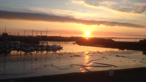 Howth at low tide, at sundown. A piece of magic. Photograph: John Jones
