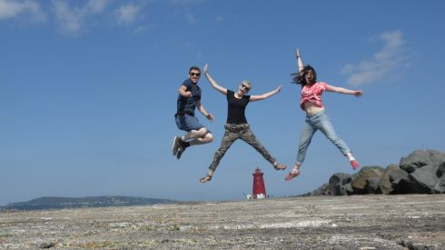 "Elizabeth Mc Adam writes: ""Here's a photo I took with friends at The Great South Wall, Dublin yesterday 21st June. I'm enjoying all the photos so far. Enjoy the sunshine."""