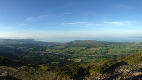 Looking out over Dublin Bay from the Sugar Loaf on Tuesday, June 17th, at 8.30pm. Photograph: Elaine Brick