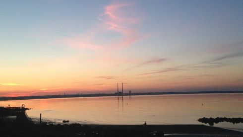 Sunset over Dublin city, as seen from Seapoint, on June 17th, 2014. Photograph: Elaine Brick