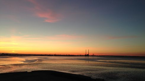 Another glorious evening: Dublin skyline including Poolbeg station on evening of Thursday, June 18th, 2014, from Blackrock Dart station. Photograph: Rory O'Leary