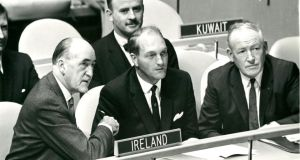 Frank Aiken as minister for external affairs at the United Nations