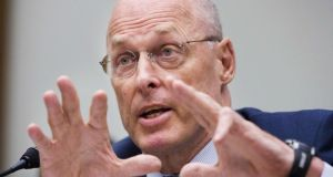 Former US treasury secretary Henry Paulson called for a national tax on carbon emissions to encourage conservation. Photograph: Manuel Balce Ceneta/AP Photo