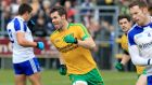 Donegal's Odhrán MacNiallais after scoring a goal against Monaghan during the league campaign.