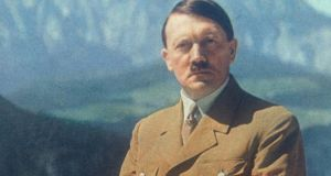 Adolf Hitler's autobiographical manifesto  'Mein Kampf' was for sale at an Amsterdam antiques shop. Photograph: Roger Viollet/Getty Images