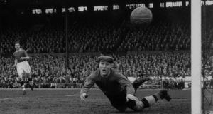 Bert Williams, the England was wrong footed by Joe Gaetjens flick header. Photograph: Central Press/Getty Images
