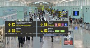 Barcelona airport where a strike by French air traffic controllers has disrupted schedules.
