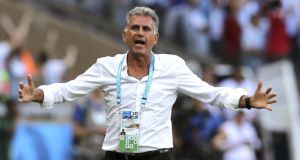 Iran coach Carlos Queiroz has brought disipline to the Iran side during his tenure. Photograph: EPA.