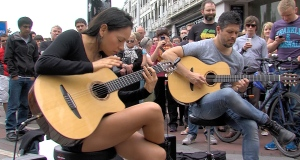Rodrigo y Gabriela returned to Grafton St earlier today. The duo made their name here in Ireland before taking the world by storm. They are set to play the National Concert Hall tonight (24th June). Video: Darragh Bambrick