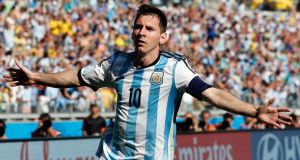 Lionel Messi has scored two of Argentina's three goals so far at the World Cup including the late winner against Iran at the Estàdio  Mineirao on Saturday. Photograph: AP.