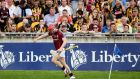 Galway's Joe Canning celebrates scoring the memorable late equalising point in the pulsating Leinster semi-final against Kilkenny at Tullamore. Photo: James Crombie/Inpho