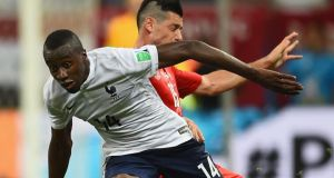 France's  Blaise Matuidi in action against Switzerland during the Group E clash  at Arena Fonte Nova in Salvador, Brazil. Photo:  Christopher Lee/Getty