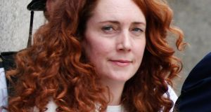 Rebekah Brooks, former News International chief executive, leaves the Old Bailey in London yesterday. Photograph: AP Photo/Lefteris Pitarakis
